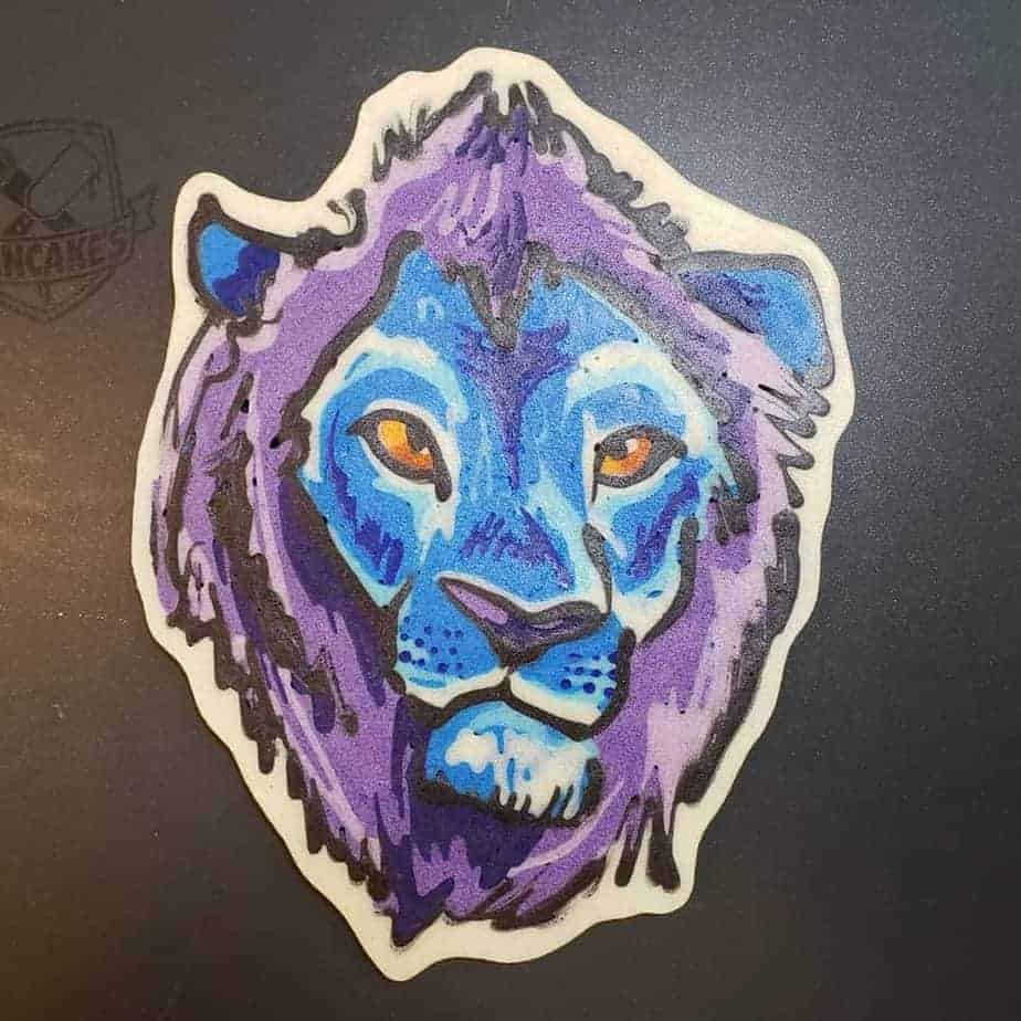 Blue Lion Pancake Art
