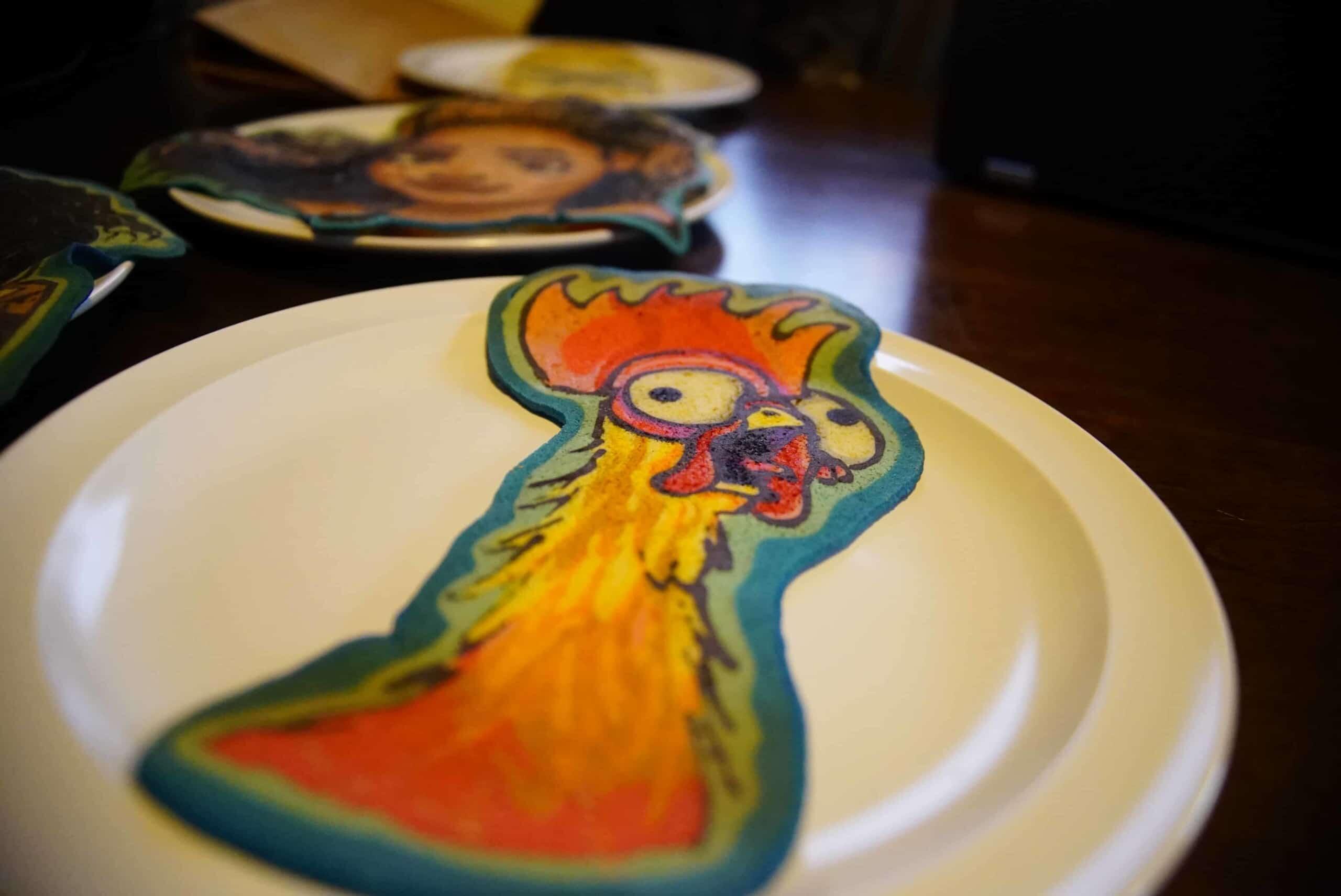 Hei Hei - Moana Pancake Art