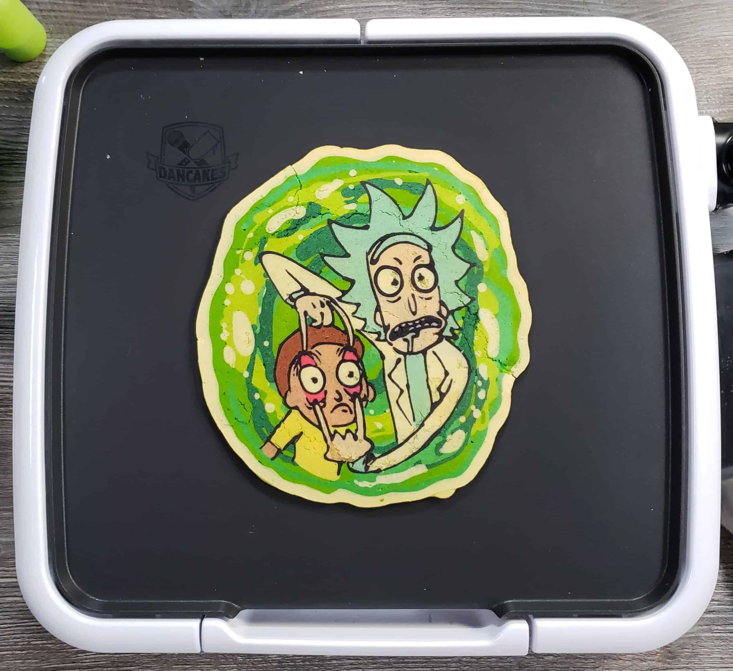 Rick and Morty Pancake Art