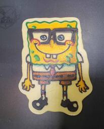 Spongebob Squarepants Wearing Glasses Pancake Art