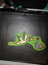 Stork Delivering Baby Pancake Art