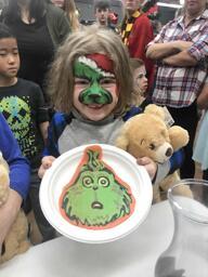 The Grinch from Dr. Seuss Pancake Art