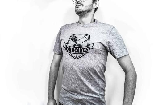 Dancakes Logo T-Shirt - Grey
