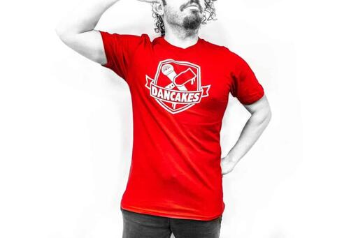 Dancakes Logo T-Shirt - Red