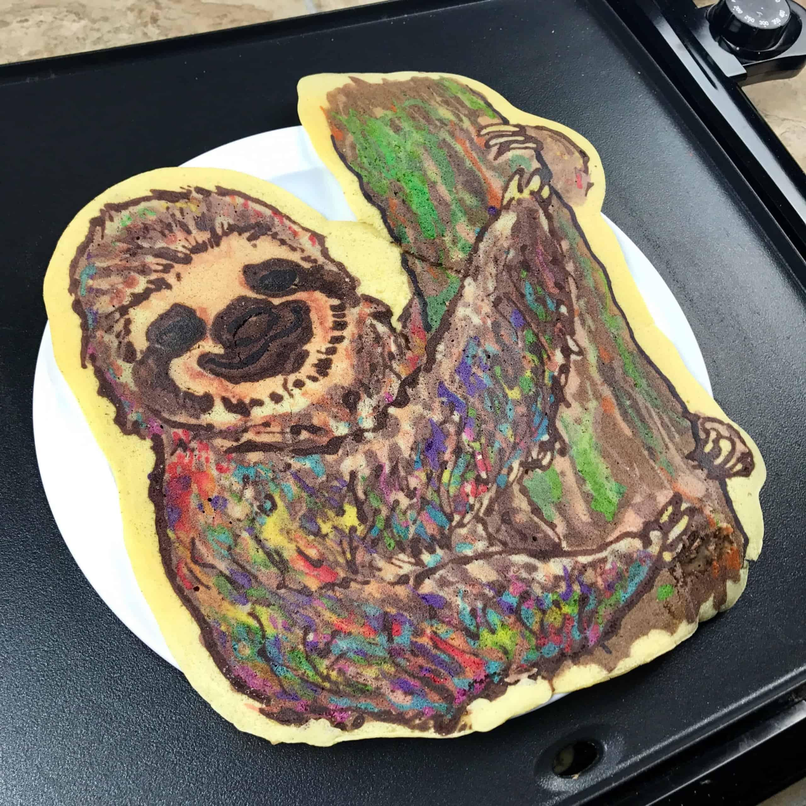 Rainbow Sloth Pancake Art
