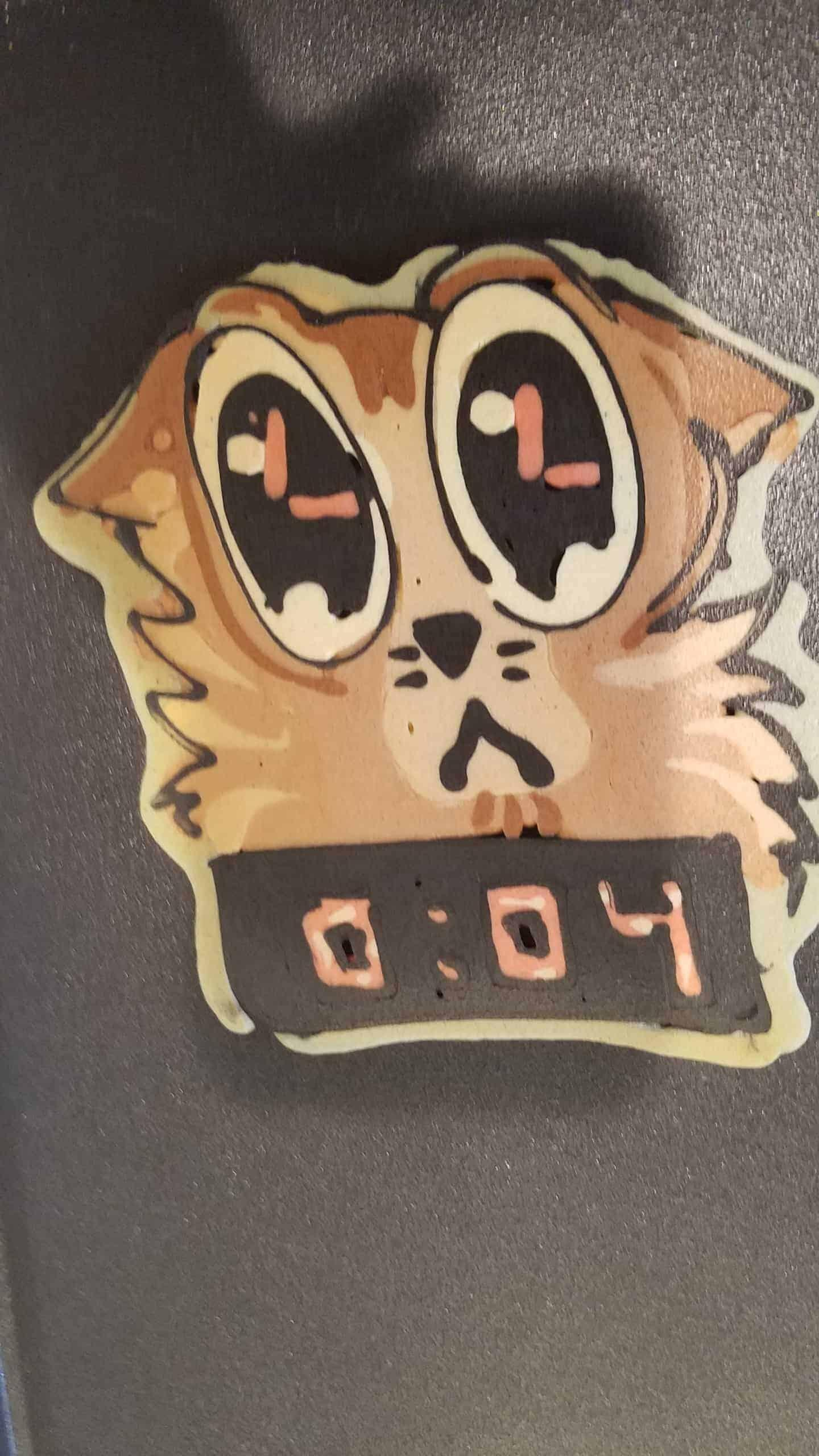 Cat and Bomb Countdown Pancake Art