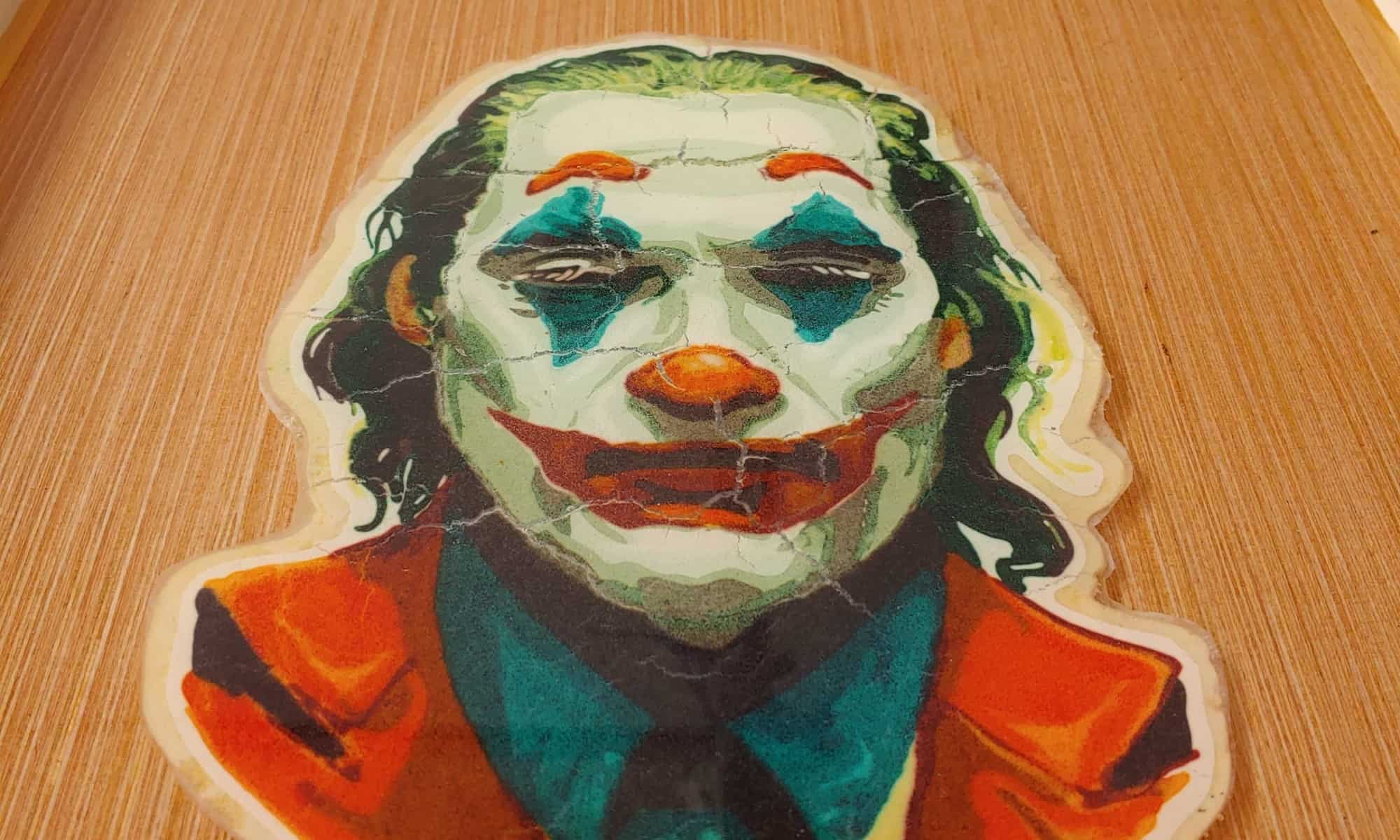 Framed and Preserved Joker Pancake Art