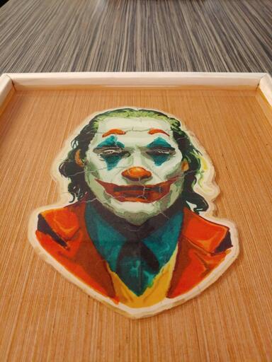 Framed and Preserved Joker Pancake Art