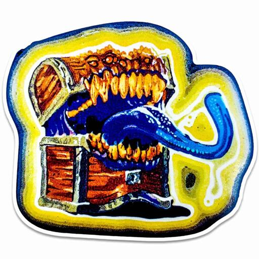DnD Mimic Sticker - Dan