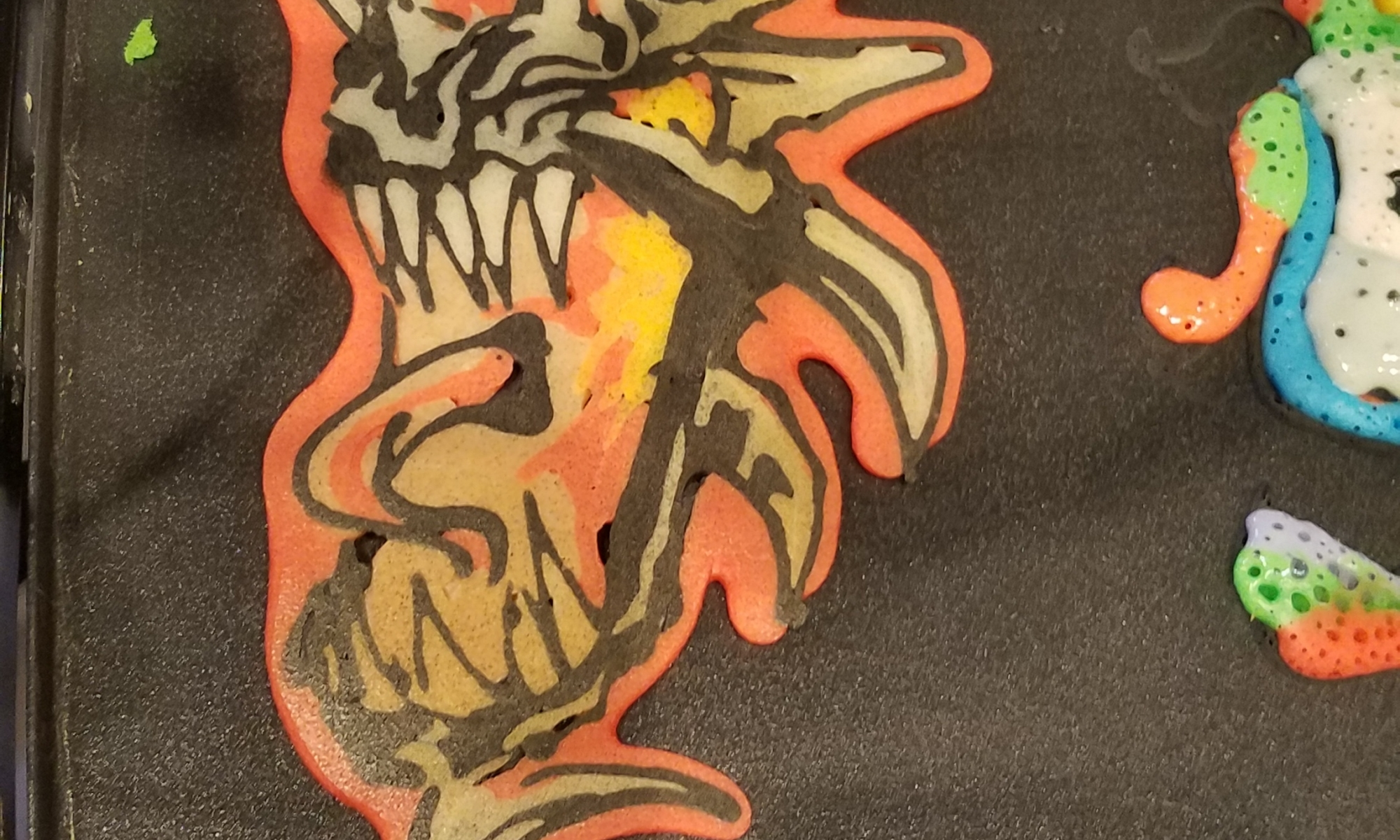 Dragon About to Breathe Fire Live Pancake Art