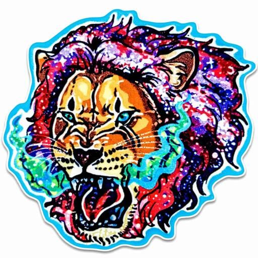 Galaxy Lion Sticker - Dana