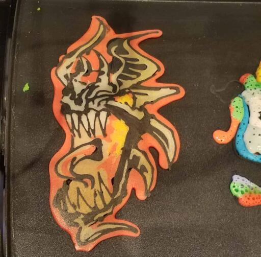 Dragon About to Breathe Fire Live Pancake Art