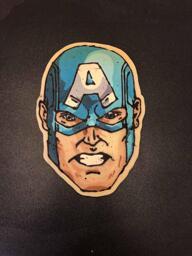 Captain America Pancake Art