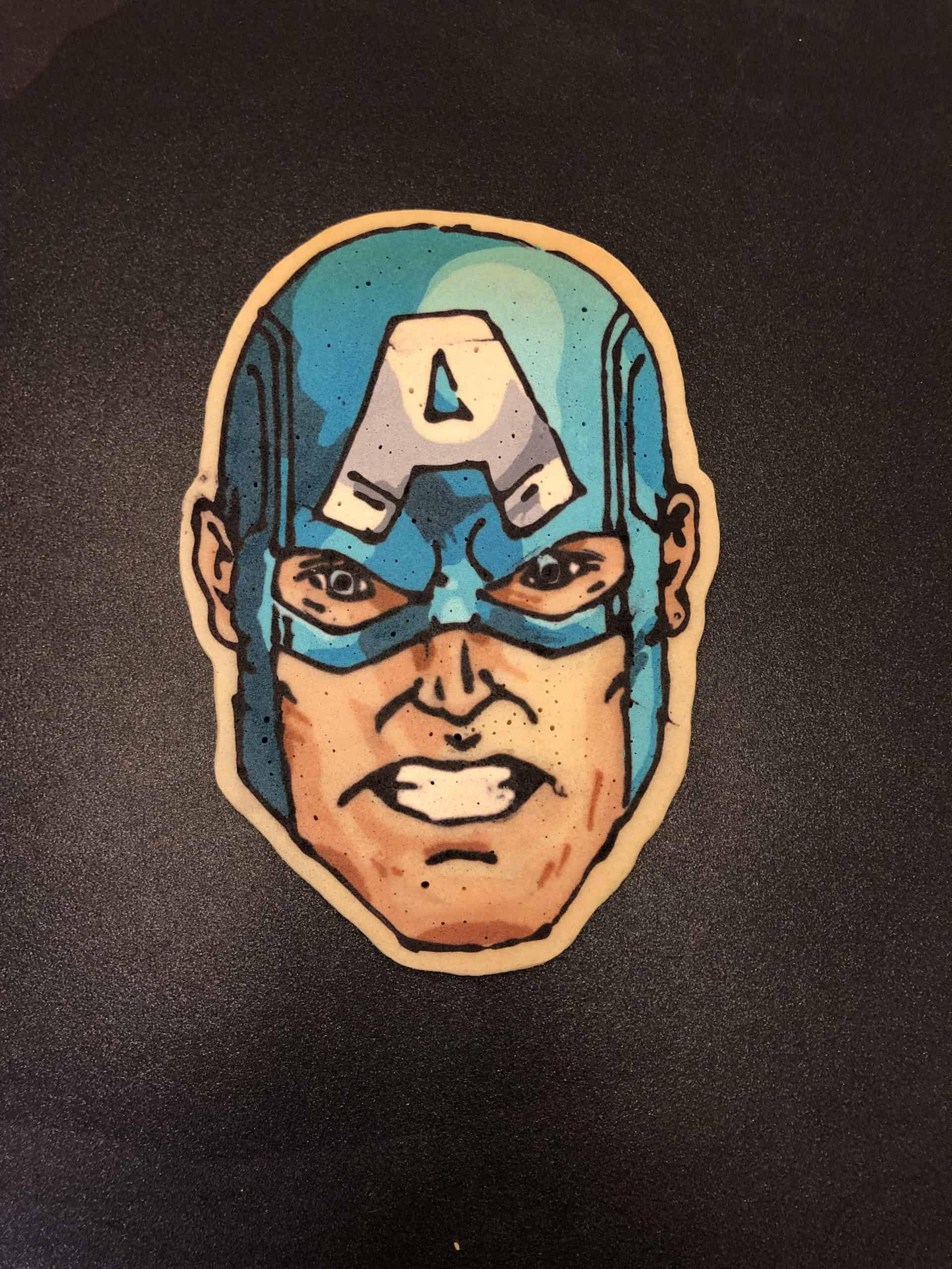 Captain America Pancake Art