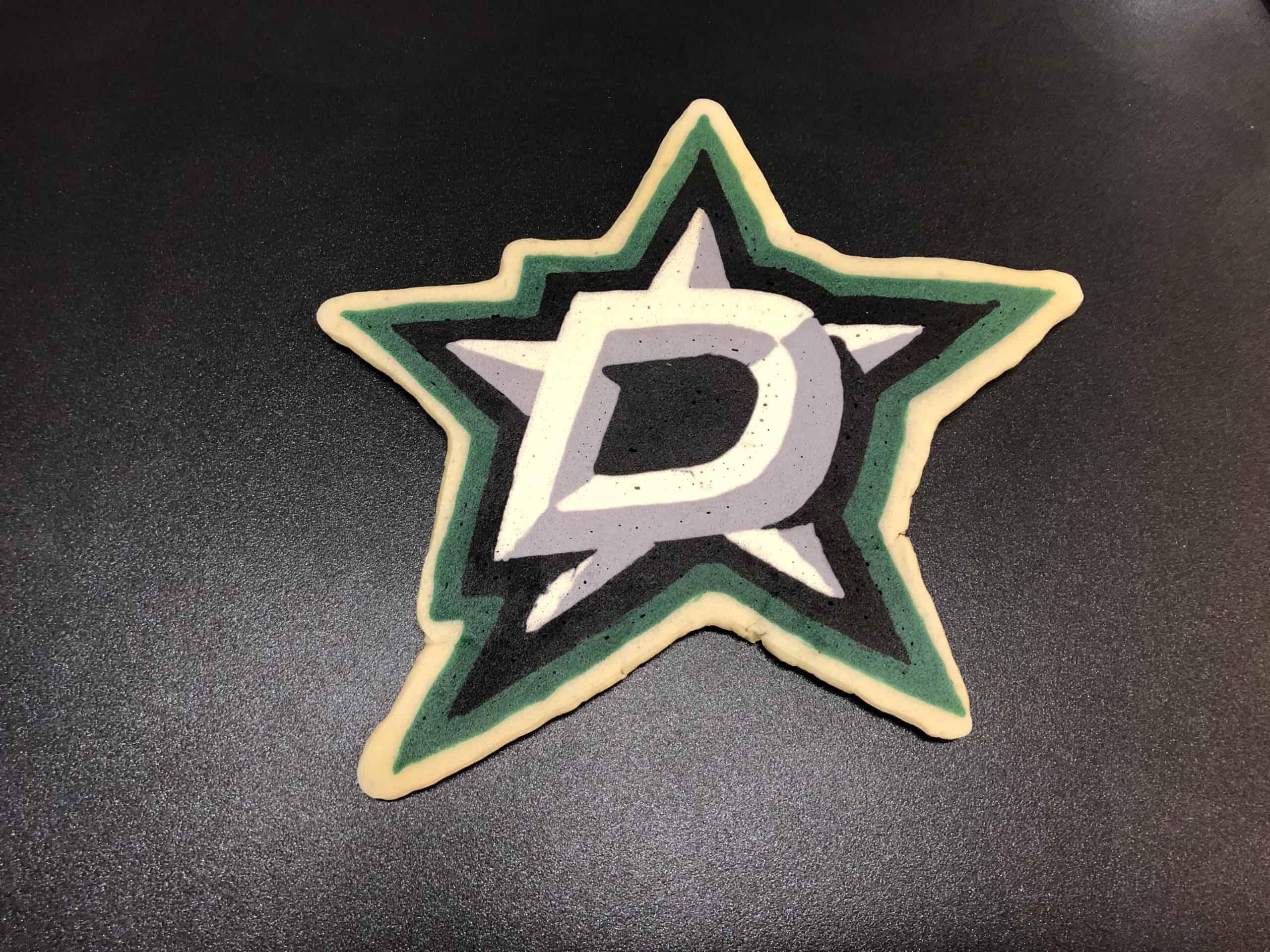 Dallas Stars Pancake Art