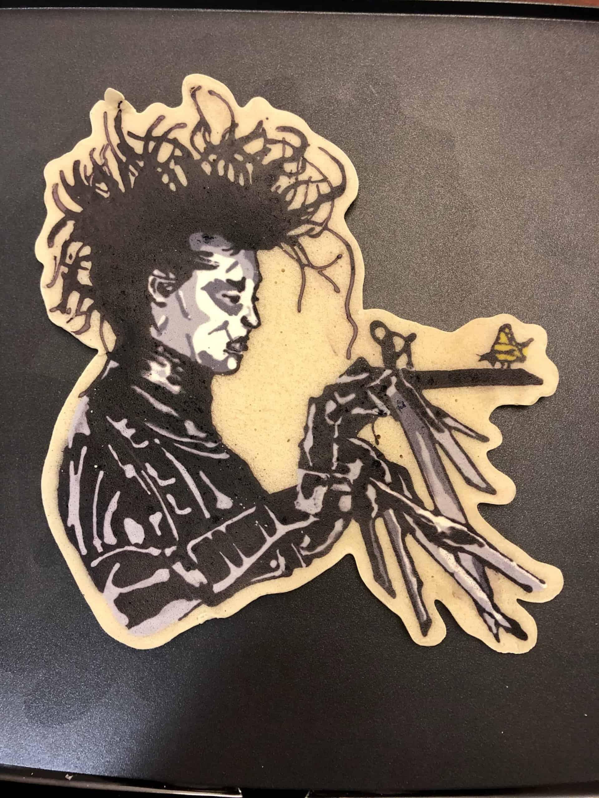 Edward Scissorhands Pancake Art