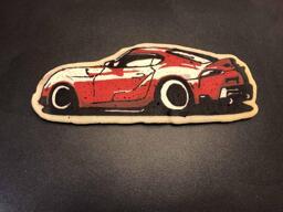 Fast Car Pancake Art