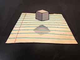 Floating Cube Pancake Art