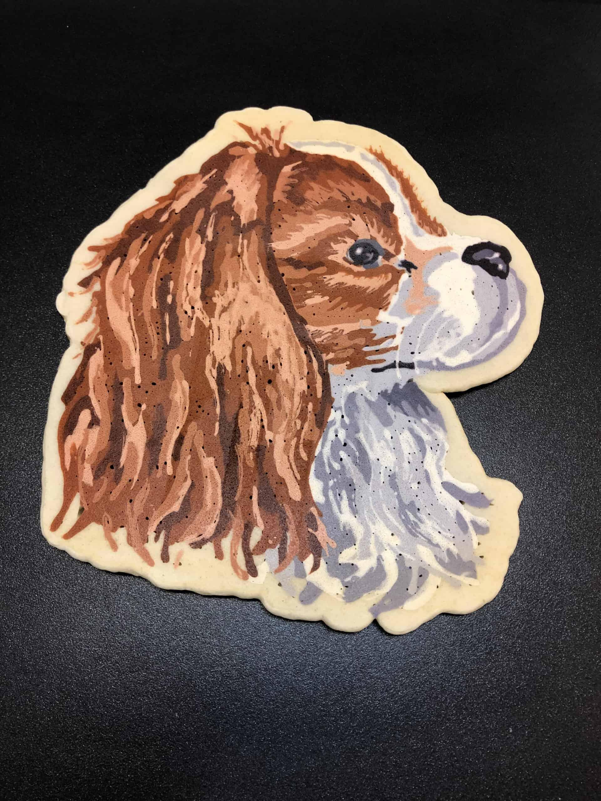 Henry the Dog Pancake Art