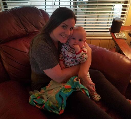 Lee Goldbergs Partner Ashley with New Baby