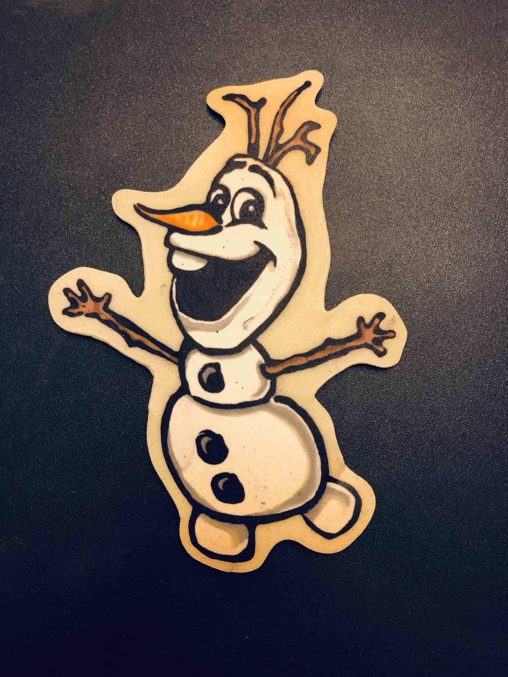 Olaf Pancake Art
