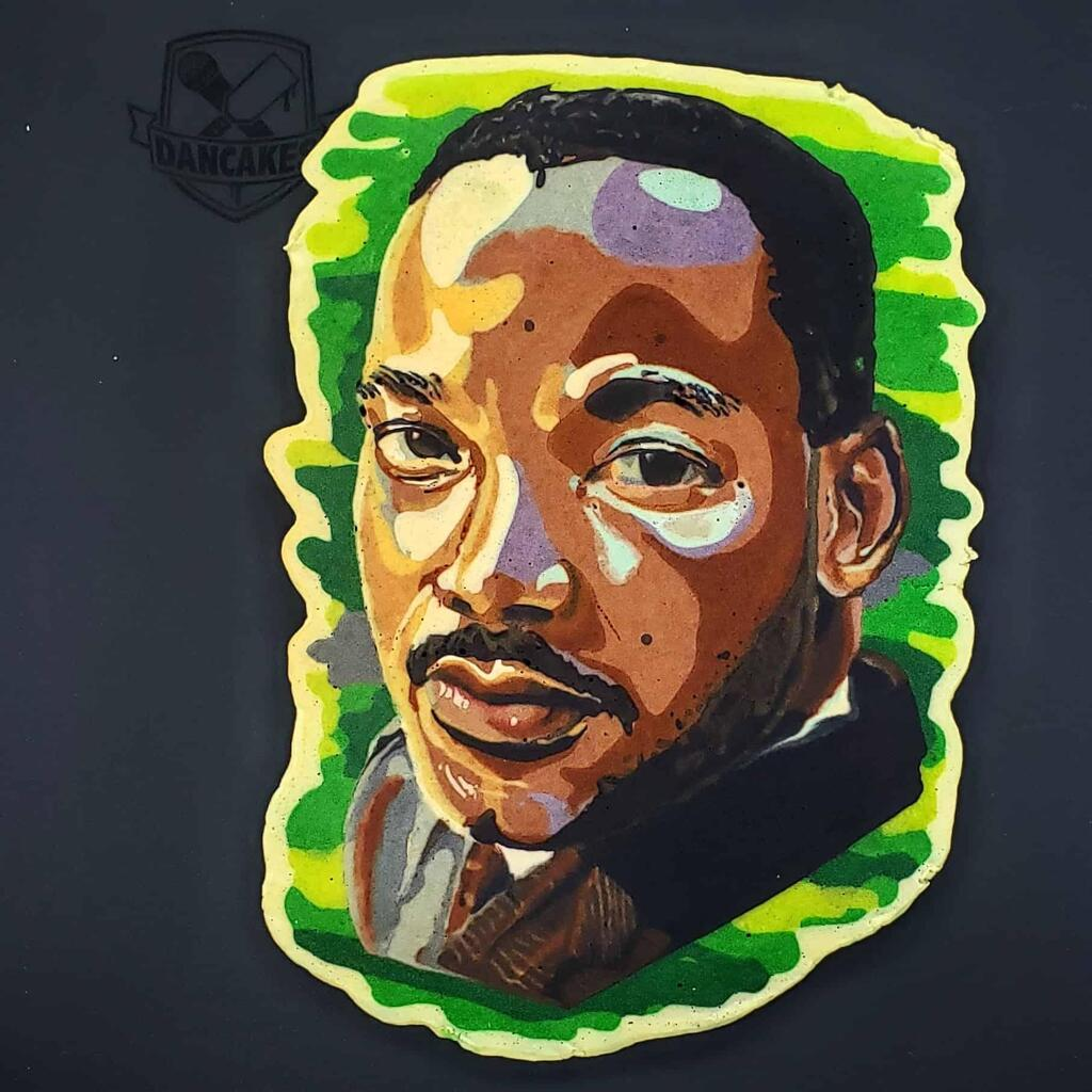 Dr. Martin Luther King Jr. Pancake Art