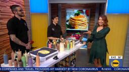 Dan and Dana of Dancakes on Good Morning America