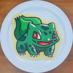 Bulbasaur Pancake Art