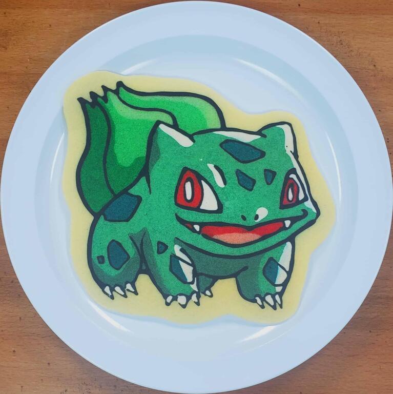 Bulbasaur Pancake Art