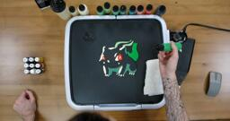 Bulbasaur pancake art step 4.3: Here's an example of a bulbasaur with shading and highlights completed.
