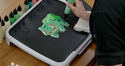Bulbasaur pancake art step 6.3: Make sure you don't miss any spots; bulbasaur's whole body should be filled!