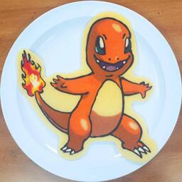 Charmander Pancake Art