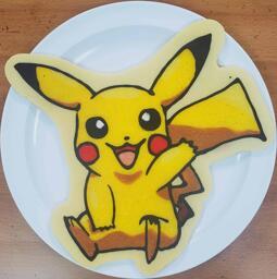 Pikachu Pancake Art