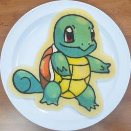 Squirtle Pancake Art