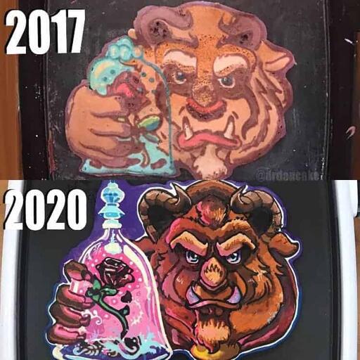 2017 Vs 2020 Beast Pancakes