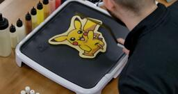 Pikachu Pancake Art step 9.3: ...and voila! Your Pikachu pancake art is flipped! Just look at that!