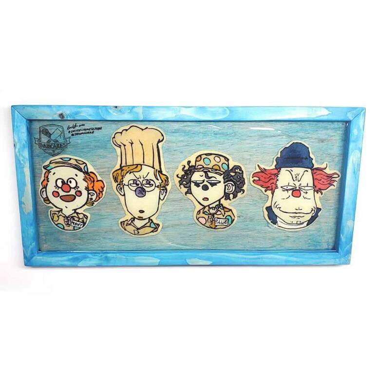 Bigtop Burger (Penny, Tim, Billie, Steve) Preserved Pancake Art