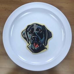 black lab puppy pancake art