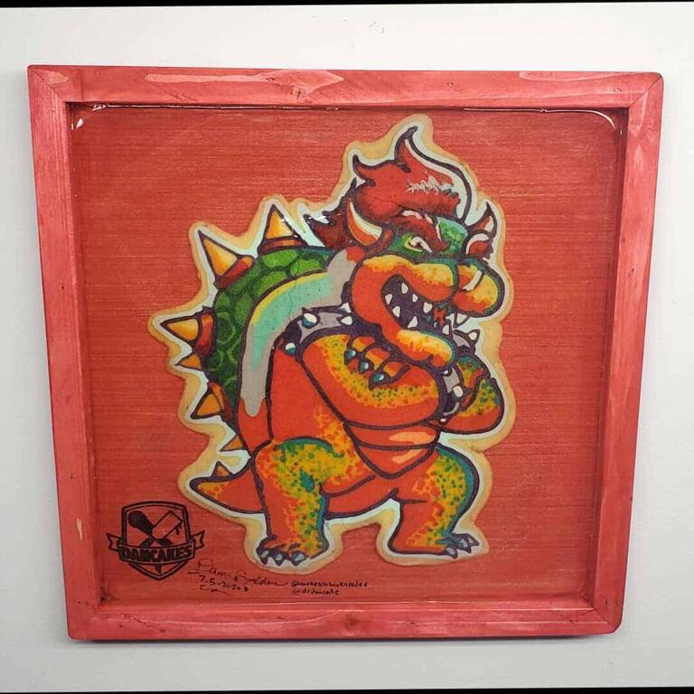 Bowser Preserved Pancake Art
