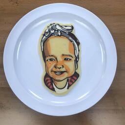 Cute baby pancake art