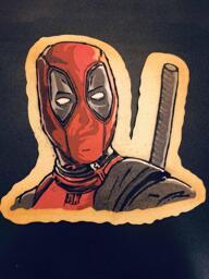 Deadpool pancake art