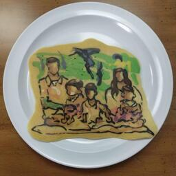Family Photo Pancake Art