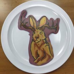 Jackelope Pancake Art