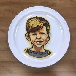 Kids portrait pancake art