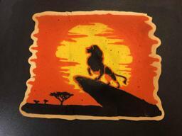 Lion King pancake art