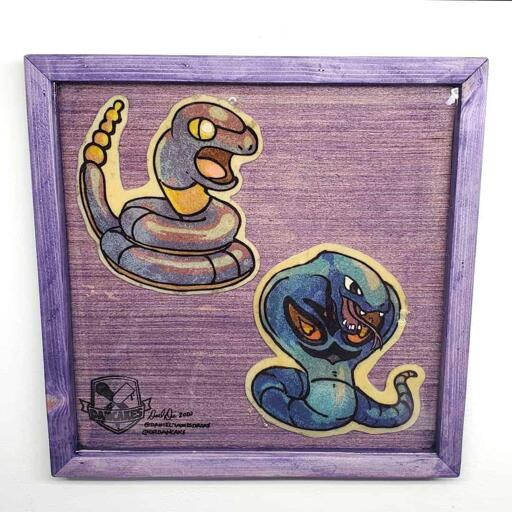 Pokemon Ekans and Arbok Preserved Pancake Art