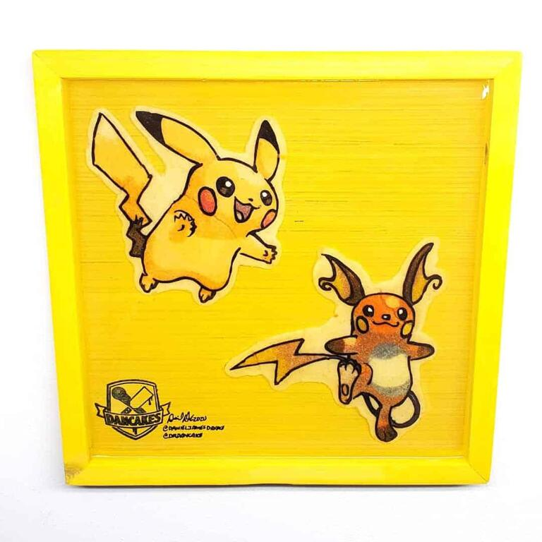 Pokemon Pikachu and Raichu Preserved Pancake Art