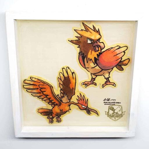 Pokemon Spearow and Fearow Preserved Pancake Art