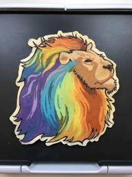 Rainbow Lion pancake art