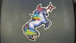 Rainbow Unicorn pancake art